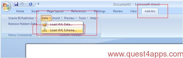 Xml publisher report from xml data template quest4apps for Bi publisher data template example